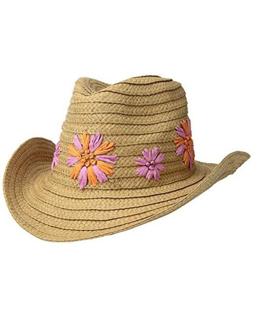 Betsey Johnson - Multicolor Summer Blooms Panama Hat - Lyst