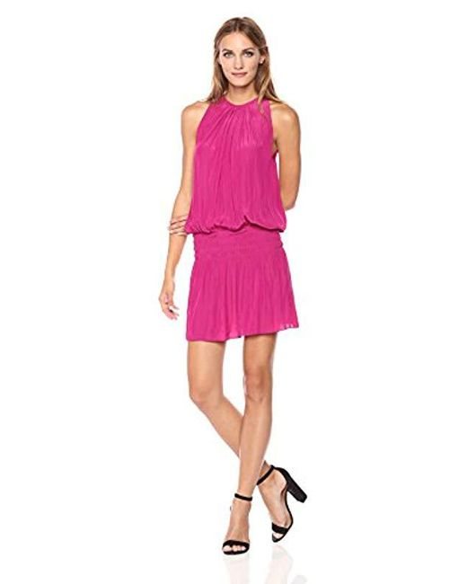 Ramy Brook - Pink Paris Sleeveless Elastic Waist Mini Dress - Lyst