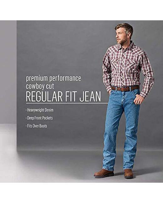 4af4520c ... Wrangler - Blue Premium Performance Cowboy Cut Comfort Wicking Regular  Fit Jean for Men - Lyst ...