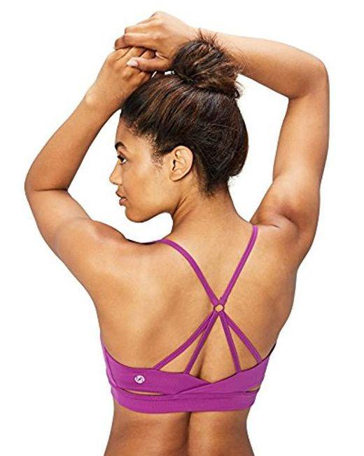 Core 10 - Purple Icon Series - The Ballerina Sports Bra (xs-xl, Plus Size 1x-3x) - Lyst