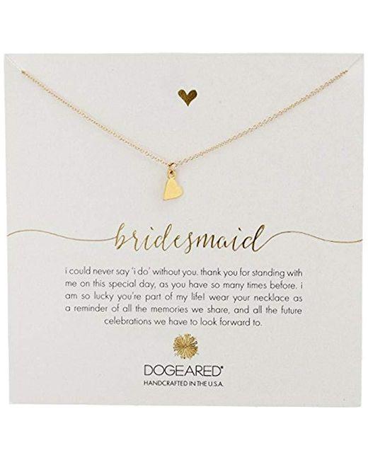 "Dogeared - Metallic Bridesmaid, Sideways Heart Necklace, 16""+2"" Extender - Lyst"