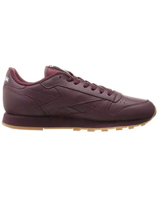 ... Reebok - Purple Cl Lthr Gum Cu Fashion Sneaker for Men - Lyst ... 0ebd16a5f