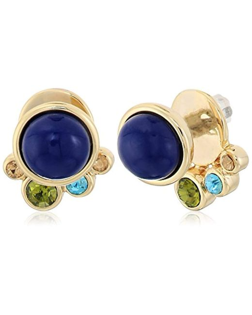 Vera Bradley - S Holiday Confetti Versatile Earrings, Gold Tone With Blue - Lyst
