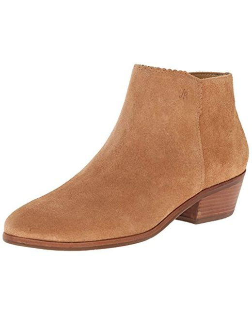 Jack Rogers Brown Bailee Suede Ankle Bootie