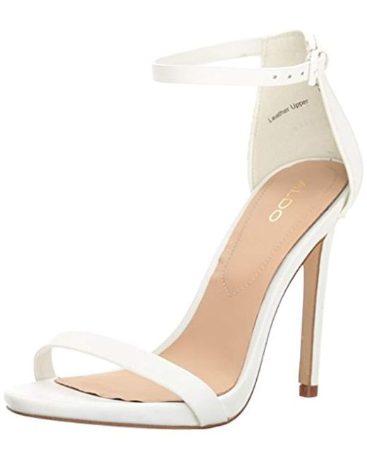 ALDO - White Caraa Heeled Sandal, - Lyst