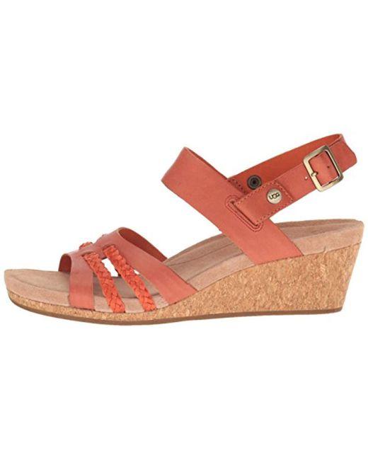 4c495514def ... Ugg - Multicolor Serinda Wedge Sandal - Lyst ...
