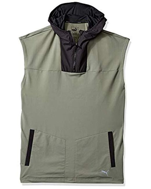 05113c05f6d3 Lyst - PUMA Sleeveless Hoodie in Gray for Men - Save 64%