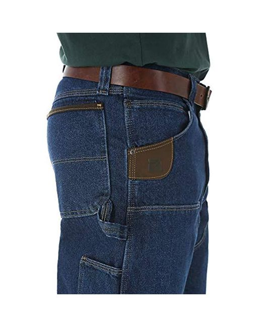 297767be ... Lyst Wrangler - Blue RIGGS Workwear Big & Tall Utility Jean for Men ...