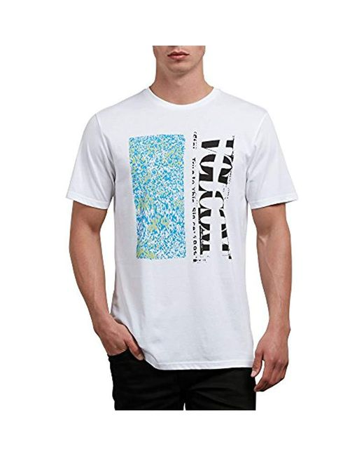 9c1a970777c66 Men's White Static Chop Short Sleeve Tee