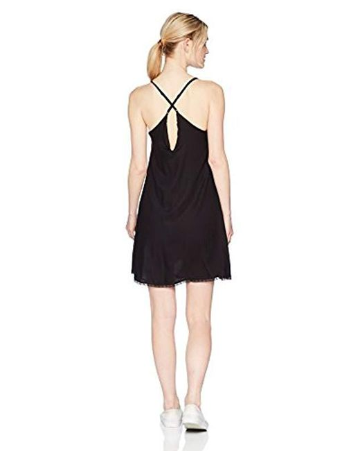 785333da5d9 ... Volcom - Black Bout Now Cami Mini Dress - Lyst