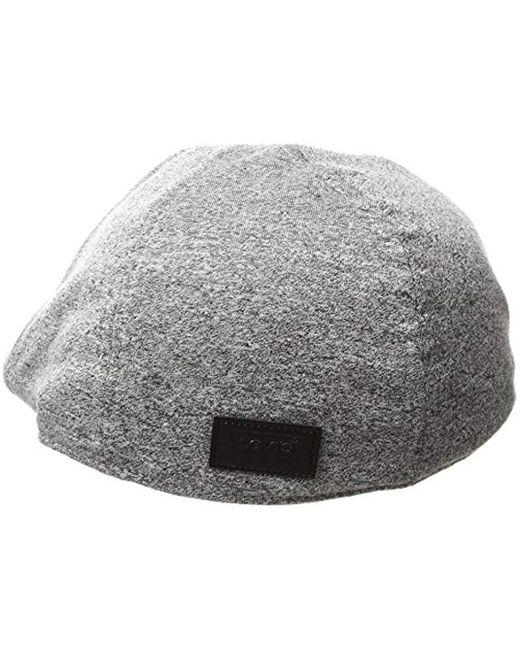 725c12bb578 ... Levi s - Gray Ivy Newsboy Hat for Men - Lyst