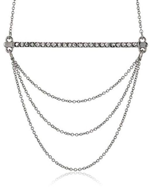 Rebecca Minkoff Metallic Bar And Chain Pendant Necklace