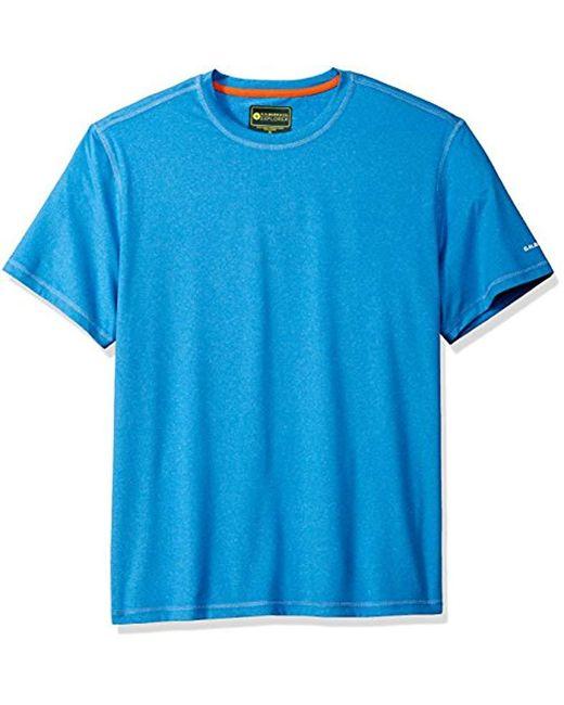 G.H.BASS - Blue Explorer Performance Melange Jersey Short Sleeve Tee for Men - Lyst
