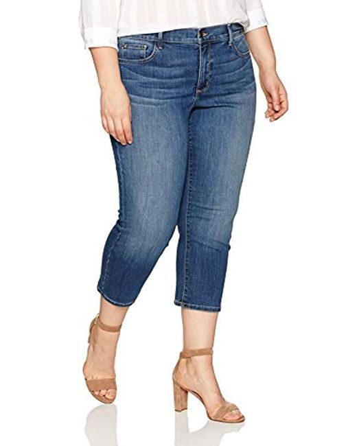 NYDJ - Blue Plus Size Marilyn Relaxed Capri Jeans In Cool Embrace Denim - Lyst