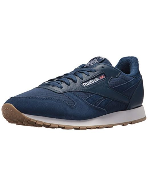 4acf4bfed27 Reebok - Blue Classic Leather Sneaker for Men - Lyst ...