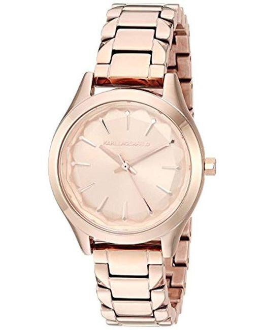 Karl Lagerfeld - Metallic Janelle Quartz Stainless Steel Watch, Color: Rose Gold-tone (model: Kl1615) - Lyst