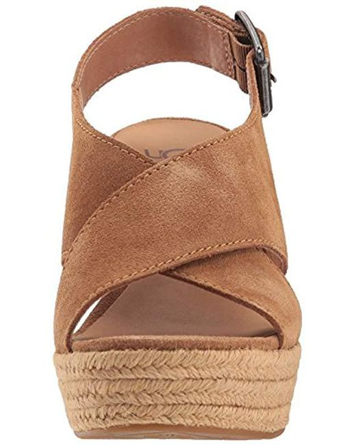 c7eda4f2146d Lyst - UGG Harlow Espadrille Wedge Sandal in Brown - Save 28%