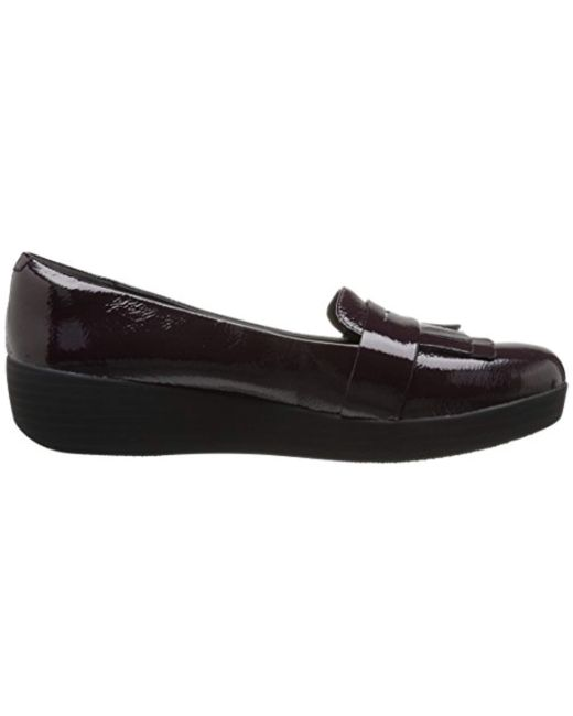 952e4bcfb83 Lyst - Fitflop Fringey Sneakerloafer Ballet Flat in Black - Save 51%