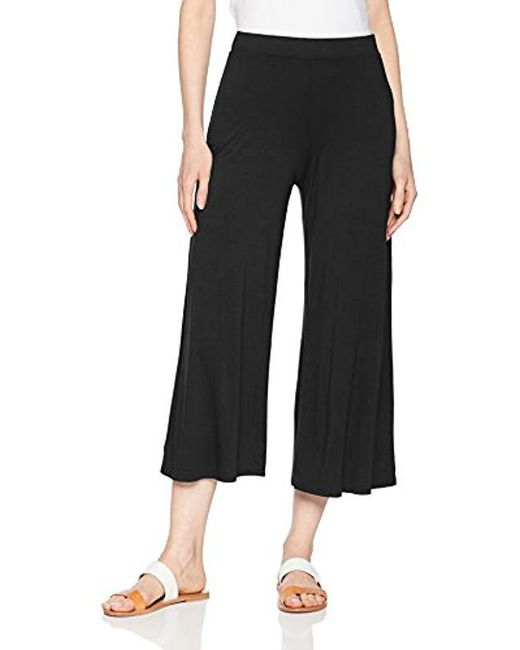 Three Dots - Black Refined Jersey Loose Long Pant - Lyst