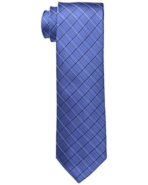Calvin Klein - Blue Etched Windowpane B Tie for Men - Lyst