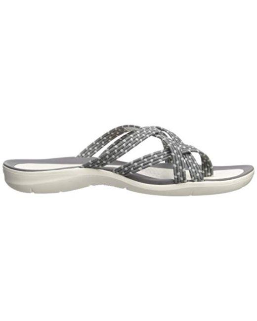 f08210f3b ... Crocs™ - Gray Swiftwater Braided Web Flip Flop