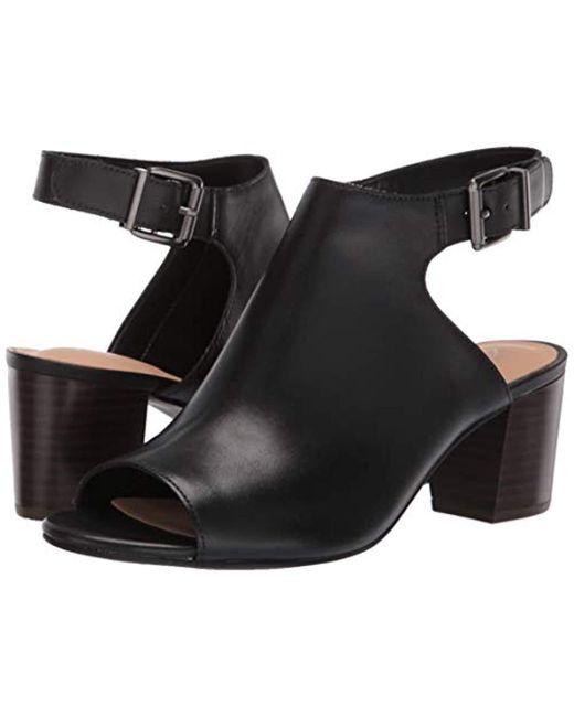 a44382247807 ... Clarks - Black Deloria Gia Heeled Sandal - Lyst ...