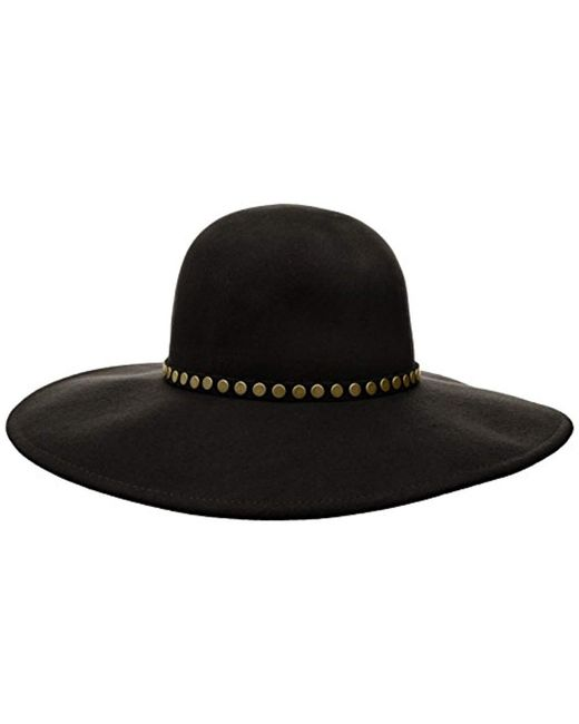 Lyst - Bcbgmaxazria Nail Head Floppy Hat in Black - Save ... 965db38ba24