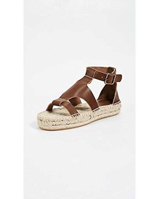 6a429ccb077 Lyst - Soludos Banded Shield Sandal Platform in Brown - Save ...