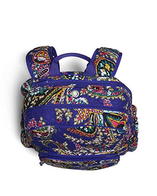 ... Vera Bradley - Blue Iconic Campus Backpack a2dc250706fba