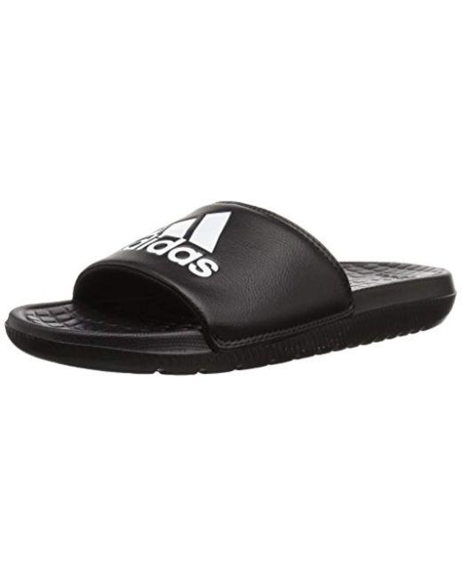 official photos 7c146 7262f Adidas - Black Voloomix Slide Sandal for Men - Lyst ...