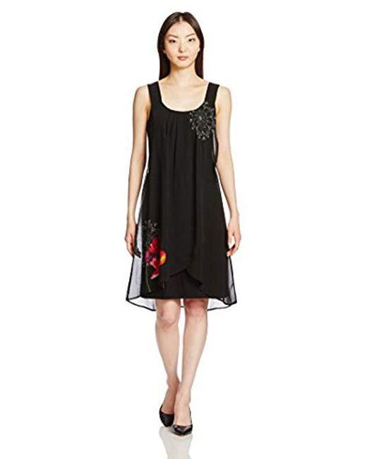 Desigual - Black Nuri Woven Strapless Dress - Lyst