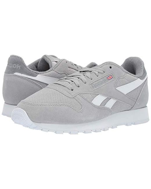 9b709d18dac ... Reebok - Classic Leather Mu S Gray Suede Low Top Lace Up Sneakers Shoes  for Men ...