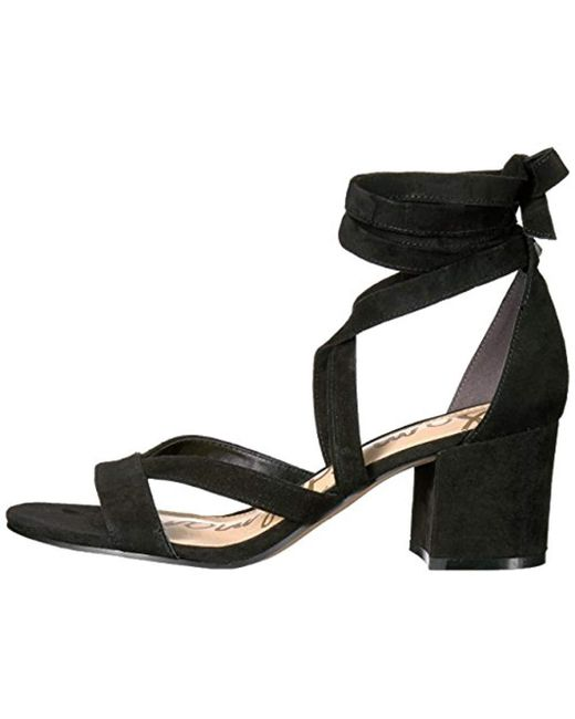 5ba0a376209 Lyst - Sam Edelman Sheri Heeled Sandal in Black - Save 53%