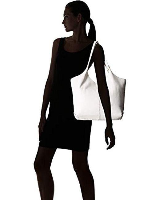 1e279539c2 Lyst - Frye Naomi Pickstitch Shoulder Tote Handbag in White - Save 56%