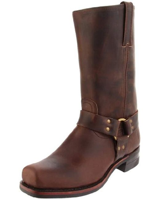 d9f5622dd Frye Men's Harness 12r Leather Square-toe Boots in Brown for Men - Lyst