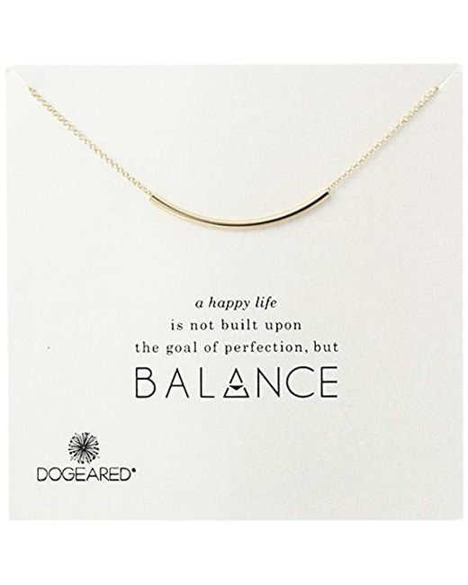 """Dogeared - Metallic Balance Tube Bar Necklace, 16"""" With 2"""" Extender - Lyst"""
