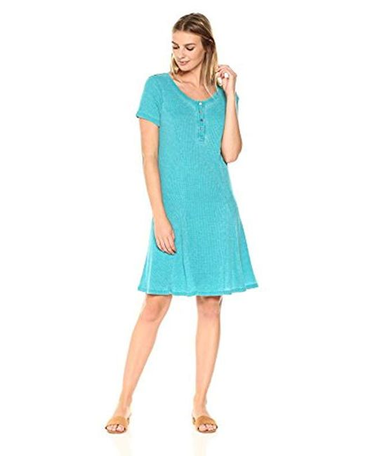 G.H.BASS - Blue Faded Waffle Dress - Lyst