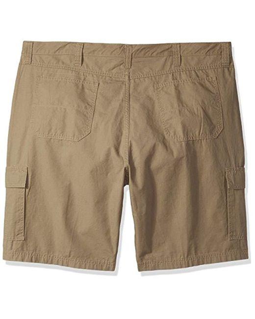 3e9a5fdac3 ... Wrangler - Natural Authentics Big & Tall Classic Cargo Twill Short for  Men ...