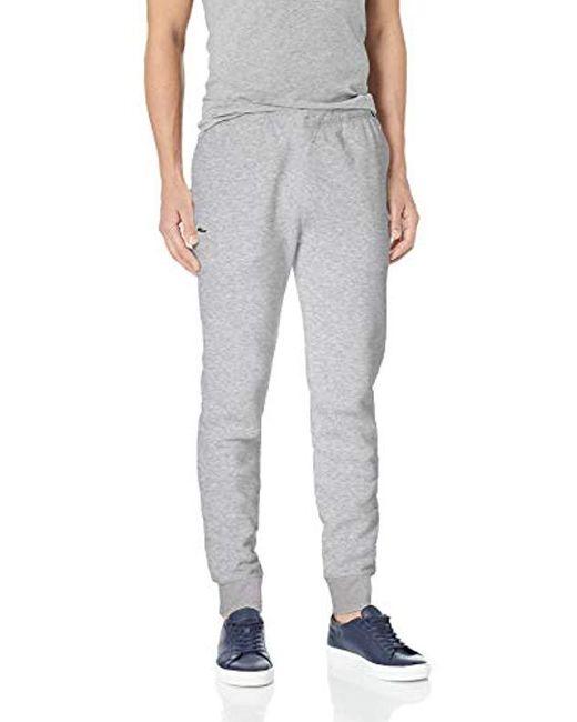 Lacoste Gray Sport Fleece Jogger for men