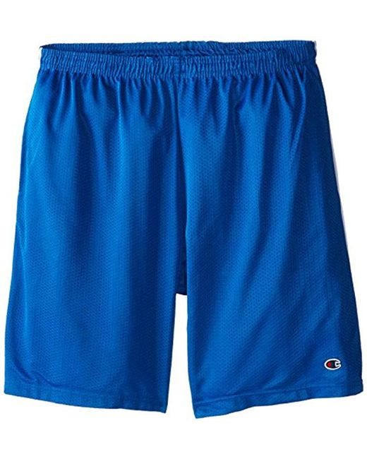 85f1c06c1fca Lyst - Champion Big-tall Mesh Short With Piping in Blue for Men
