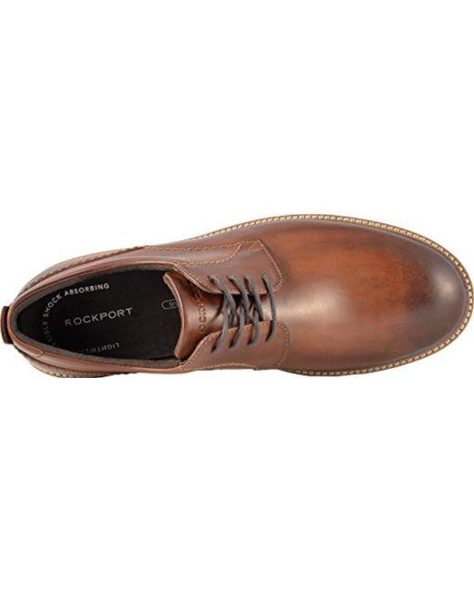 Rockport - Brown Marshall Plain Toe Oxford for Men - Lyst