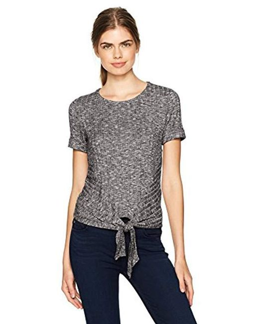 Lucky Brand - Gray Front Tie Top - Lyst