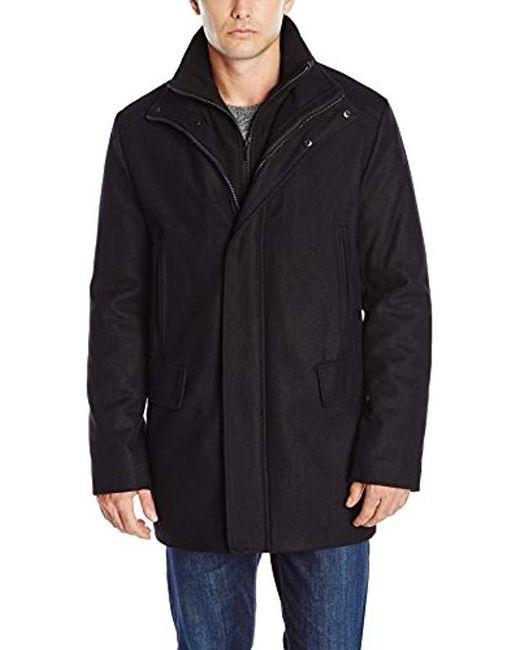 Calvin Klein - Black Wool-blend Stadium Jacket for Men - Lyst