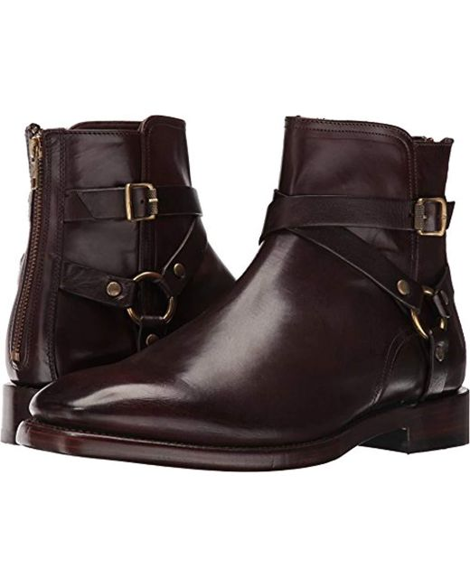 7f7daa5333f68 Lyst - Frye Weston Cross Strap Harness Boot in Brown for Men - Save 3%