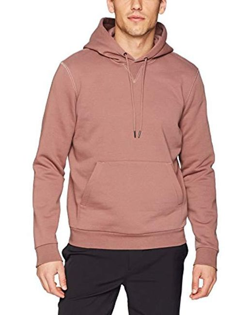Theory - Pink Essential Cure Fleece Hoodie for Men - Lyst