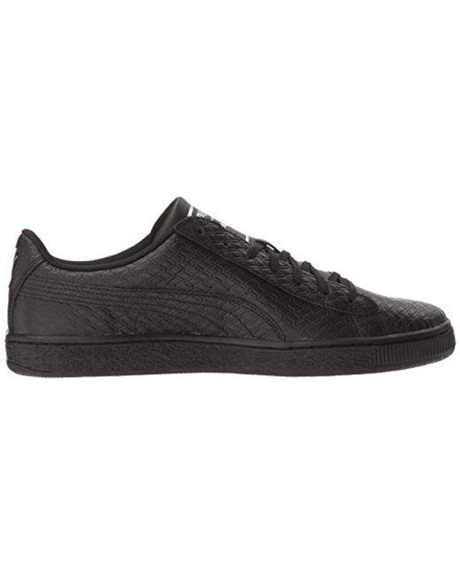 Lyst - PUMA Basket Classic B w Fashion Sneaker in Black for Men ... 49f5242e9