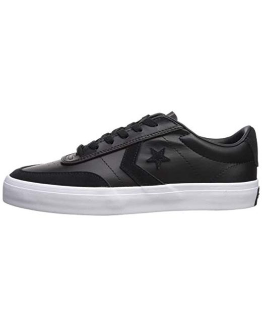 078c3335314e ... Converse - Black Courtlandt Leather Suede Low Top Sneaker for Men - Lyst  ...
