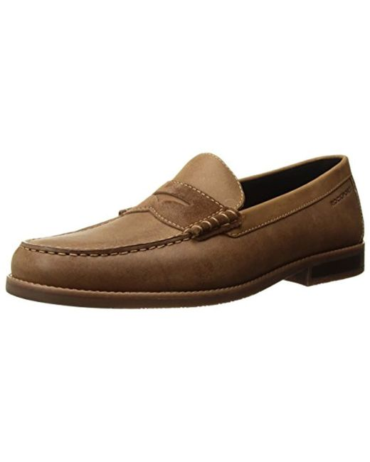 c710b48a2aa Rockport - Brown Cayleb Penny Loafer for Men - Lyst ...