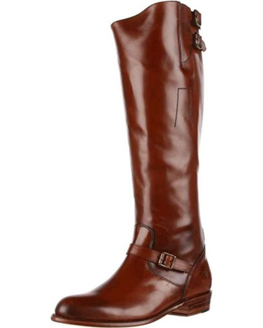 Frye Brown Dorado Buckle Riding Boot