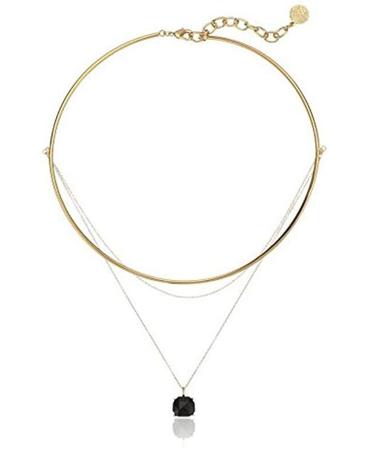 Vince Camuto - Metallic Delicate Collar And Chain Swag Pendant Necklace - Lyst
